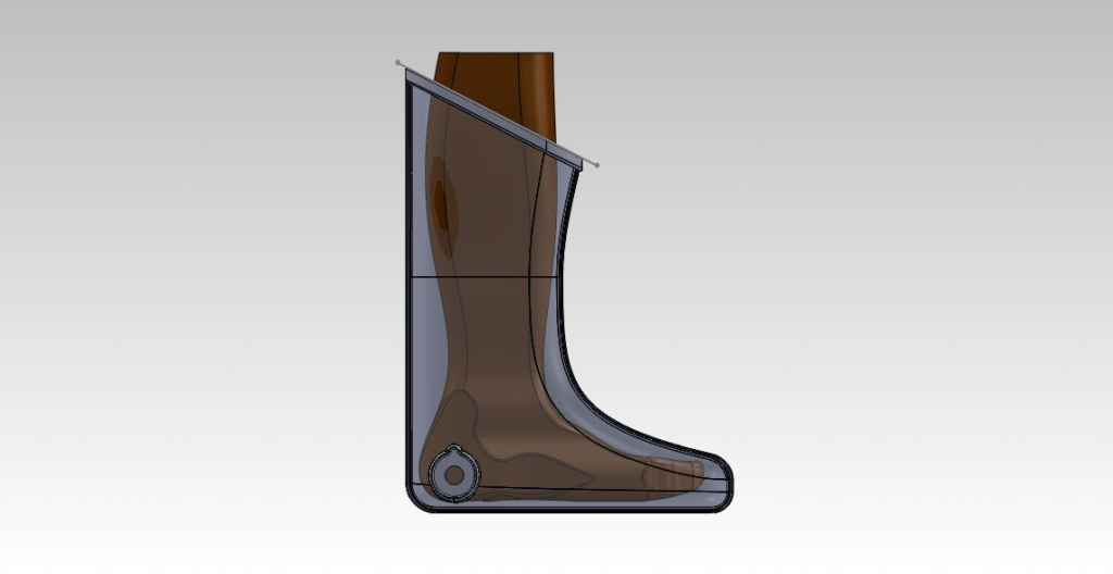50 percentile woman in small boot part extra waterproofing